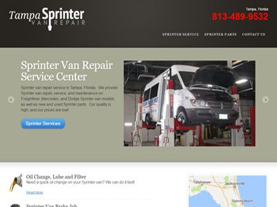 Sprinter Repair Microsite