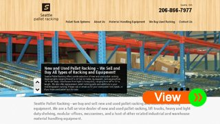 Pallet Racking Website