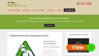Duct Cleaning Website