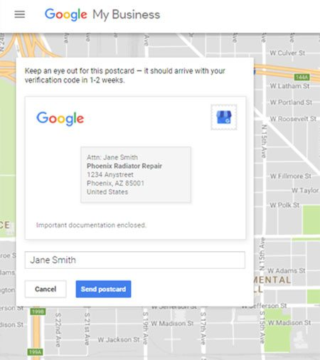 Google Maps Verification